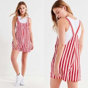 UO Striped Shortall Overall XS